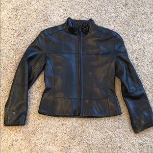Andrew Marc Leather Bomber Jacket XS